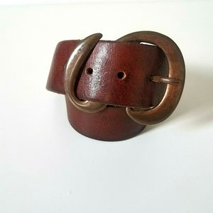 Levi's Leather Belts Size 30 Brass Colored S Brown